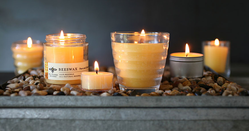 Beeswax Aromatherapy Candle in Beehive Glass