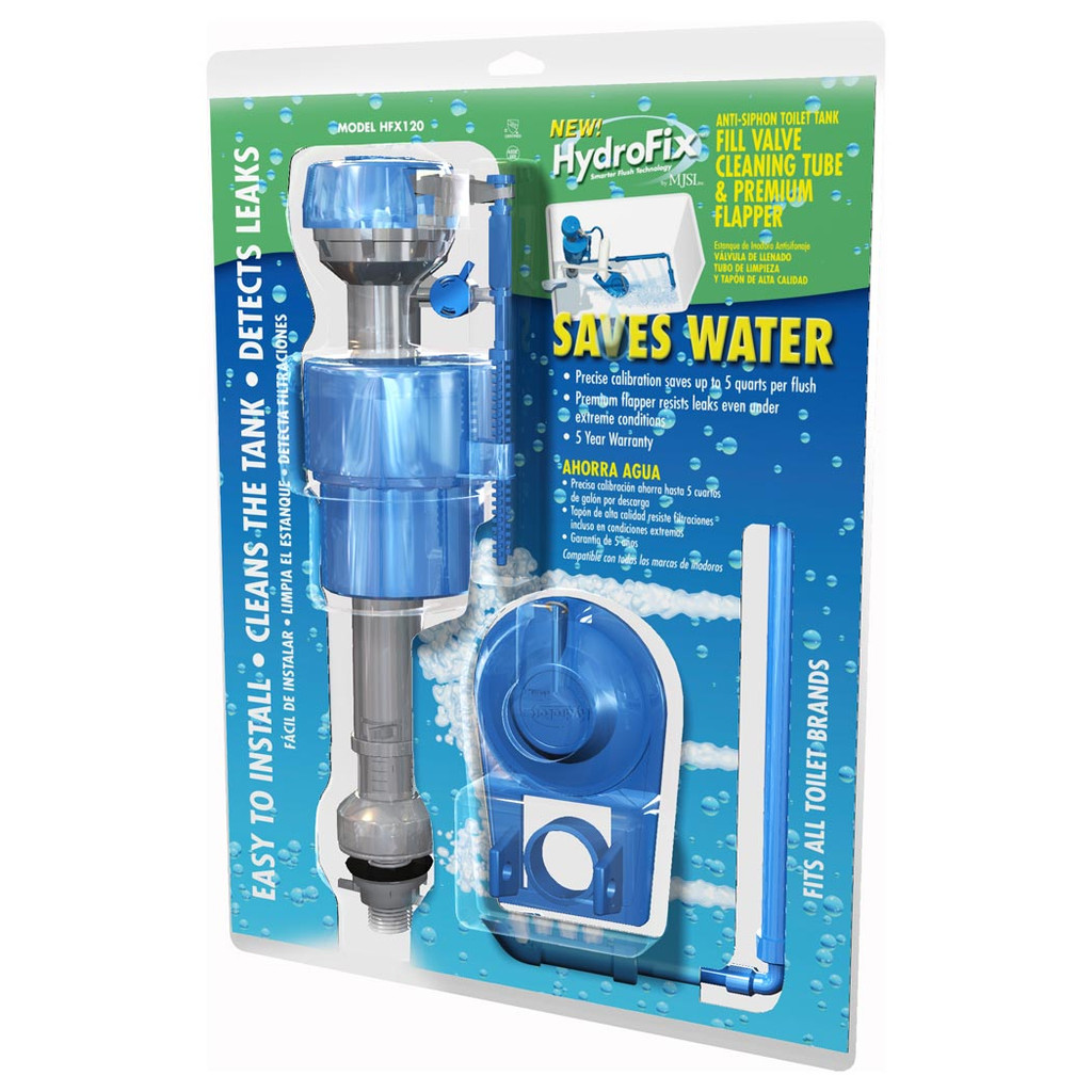 HydroFix Water Saving Toilet Fill Valve and Flapper Kit