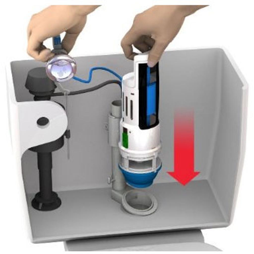 HydroRight Drop-in Dual Flush Converter Kit