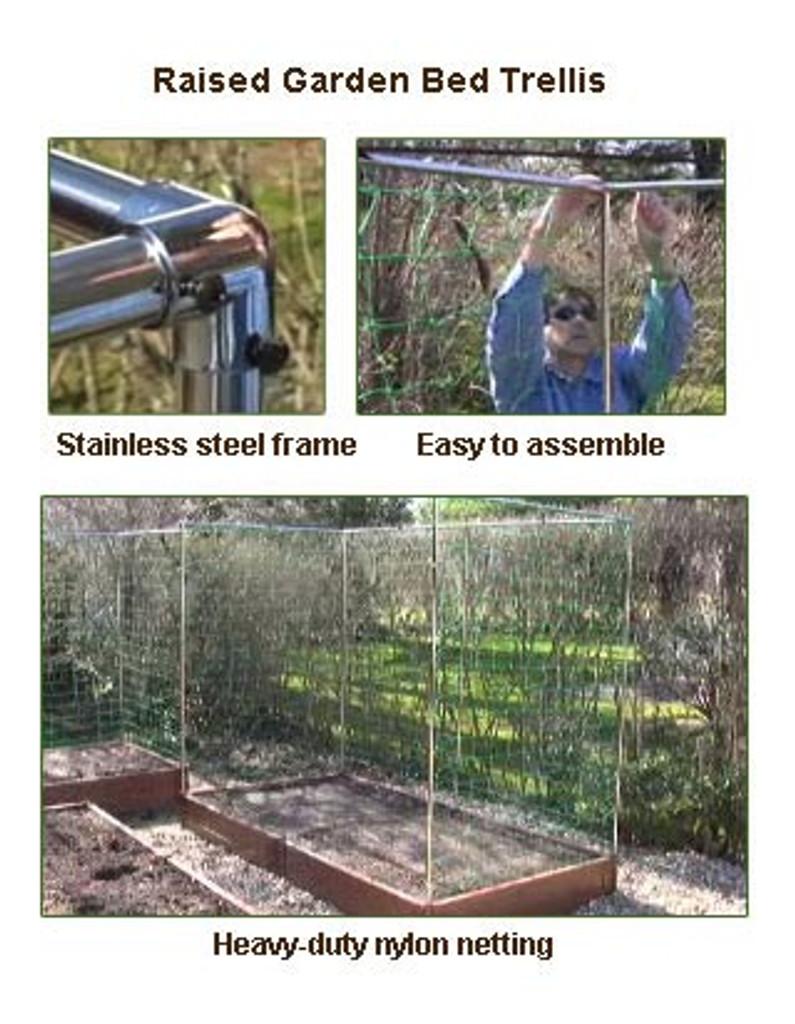 raised garden bed vegetable trellis 4 x 6 eartheasy com