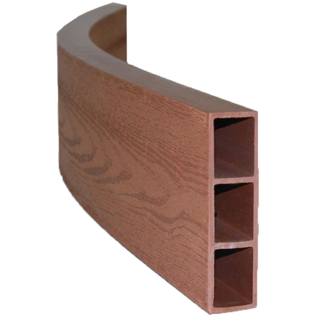 Wood Grain Curved Composite Timber - 4' Long