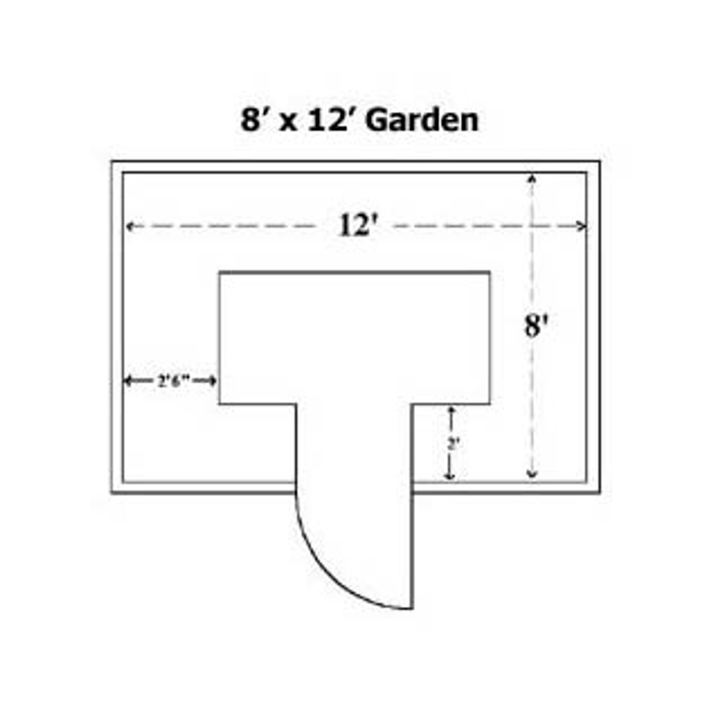 Cedar Complete Raised Garden Bed Kit - 8' x 12' x 20""