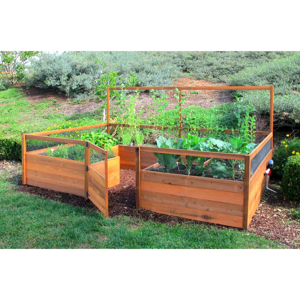Cedar Complete Raised Garden Bed Kit   8u0027 X 12u0027 ...