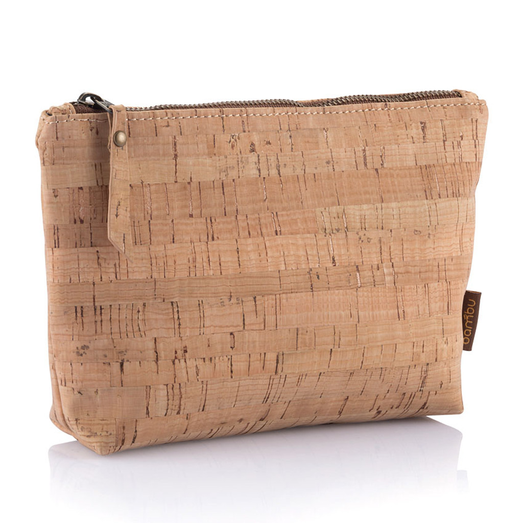 Cork Fabric Travel Zip Pouches