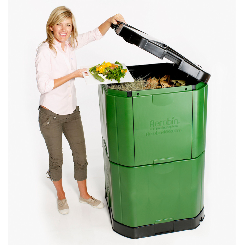 Aerobin 400 Insulated Composter - 15 Cubic Foot (112 Gallon) Compost Bin