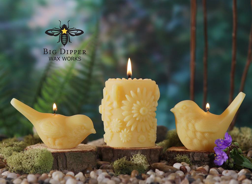 Beeswax Song Bird Candles