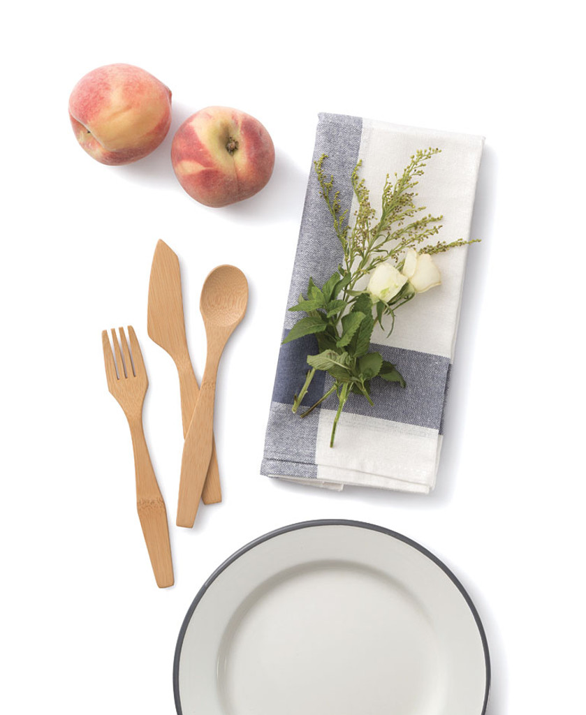 Bamboo Travel Utensil Set - Organic Cotton
