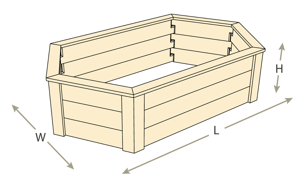 Hexagon Raised Garden Bed with Trim