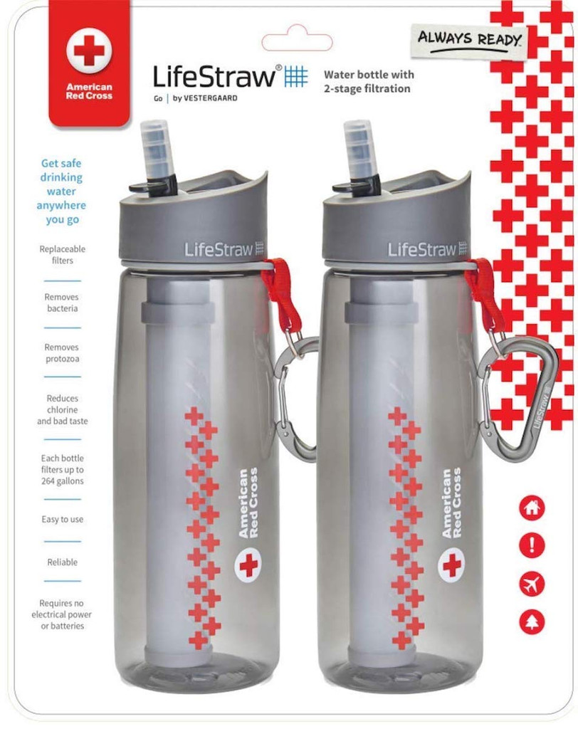 American Red Cross LifeStraw Go with 2-Stage Filtration - Two Pack
