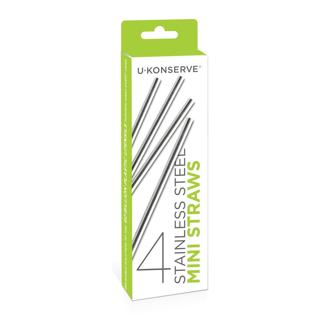 Stainless Steel Mini Straws 4-Pack