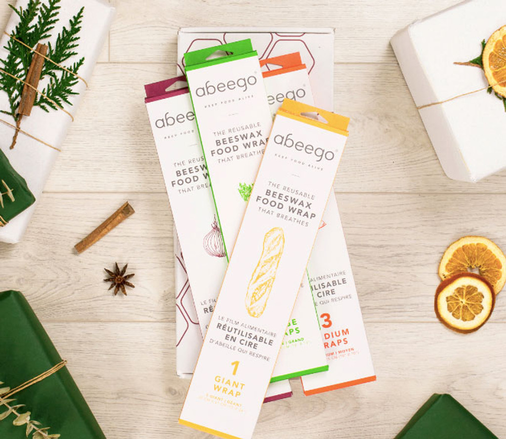 Abeego Gift Box - Reusable Beeswax Food Wraps