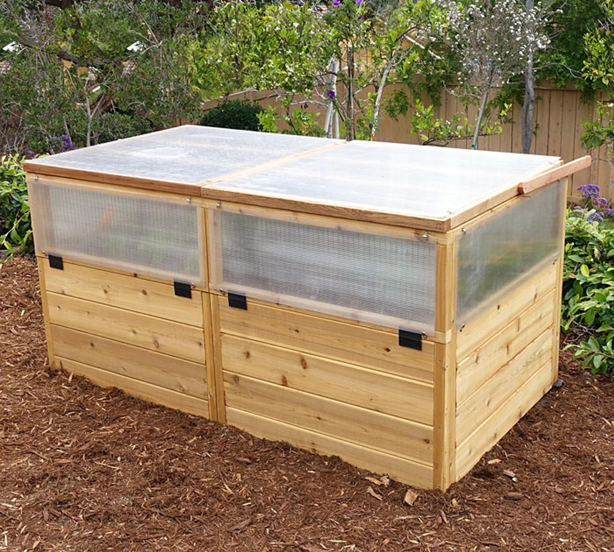 3 x 6 raised garden bed mini greenhouse kit - Raised Garden Bed Kit