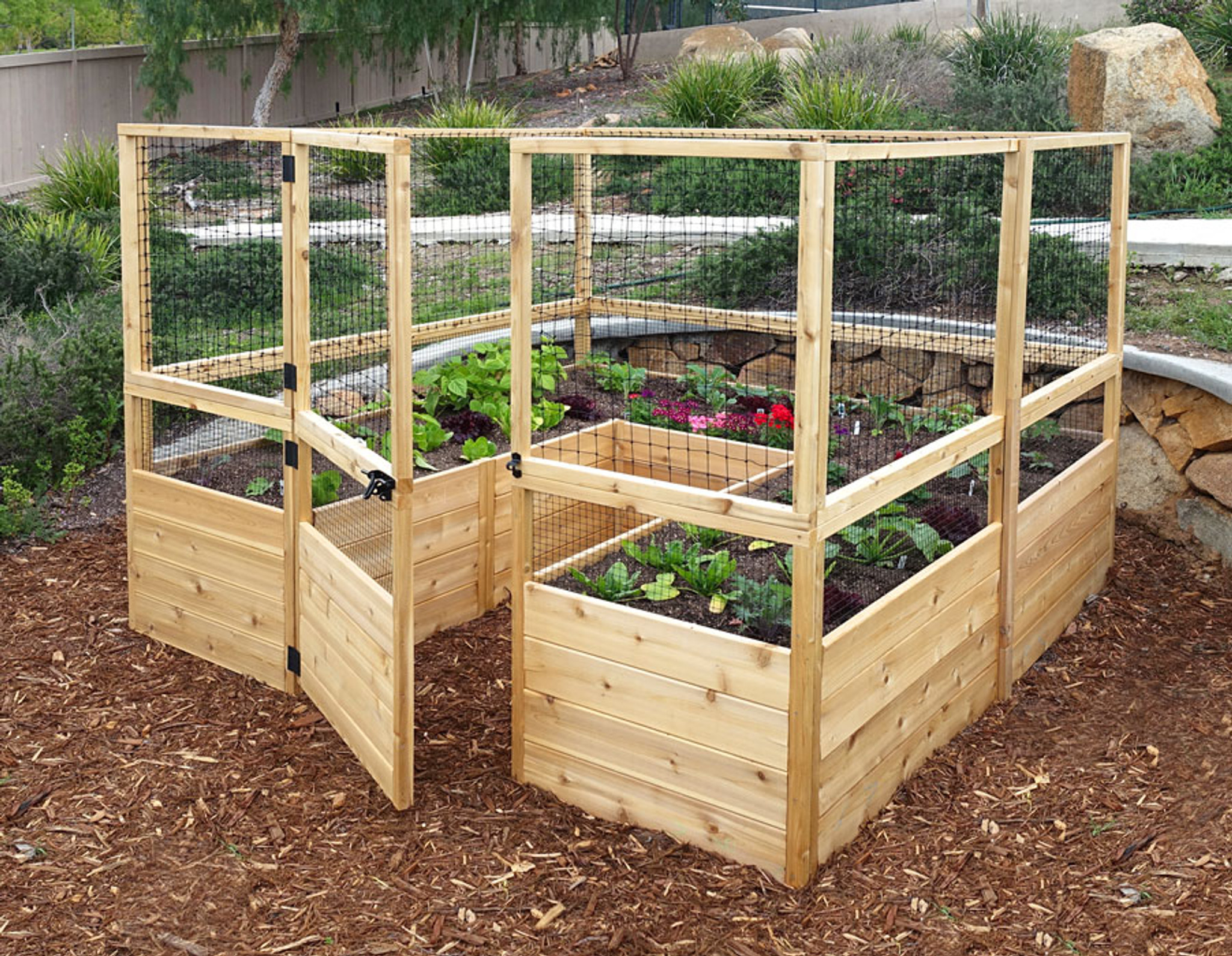 garden bed kit. Deer Proof Cedar Complete Raised Garden Bed Kit - 8\u0027 X 20\ E