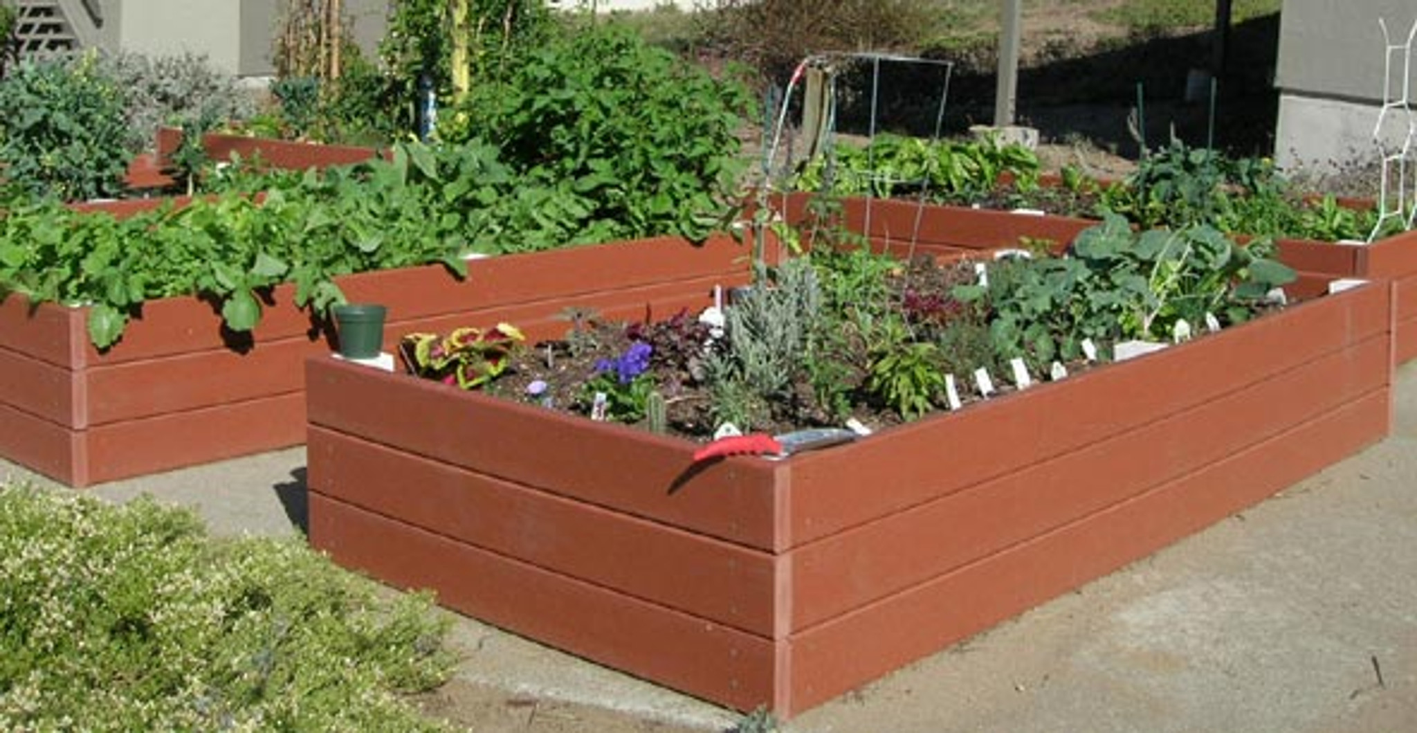 Recycled Plastic Raised Garden bed - 4' x 8' x 16.5