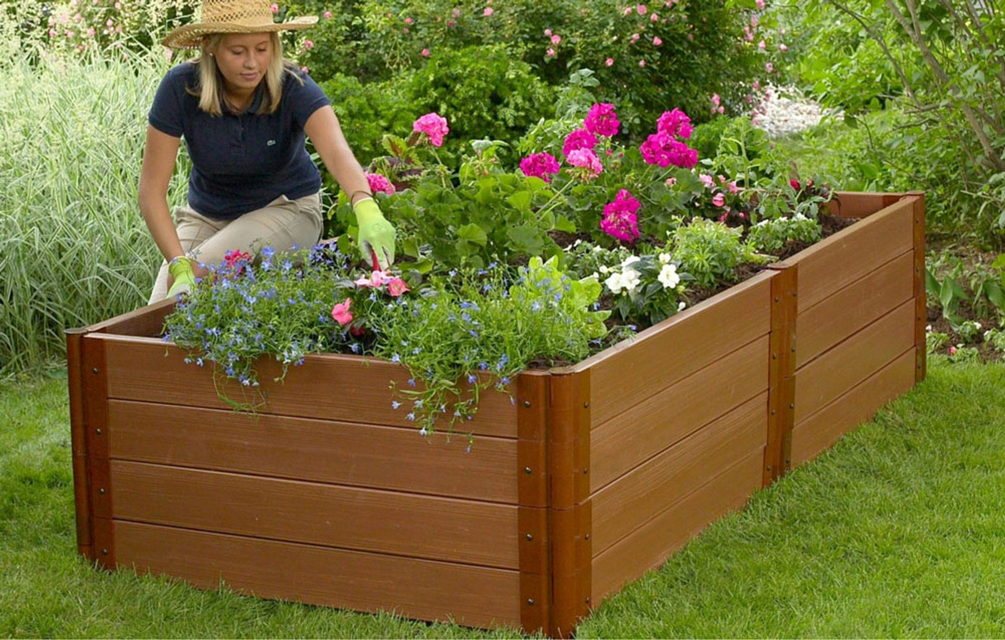 p sienna composite it kit in x inch brown all classic beds bed frame ft series raised two garden