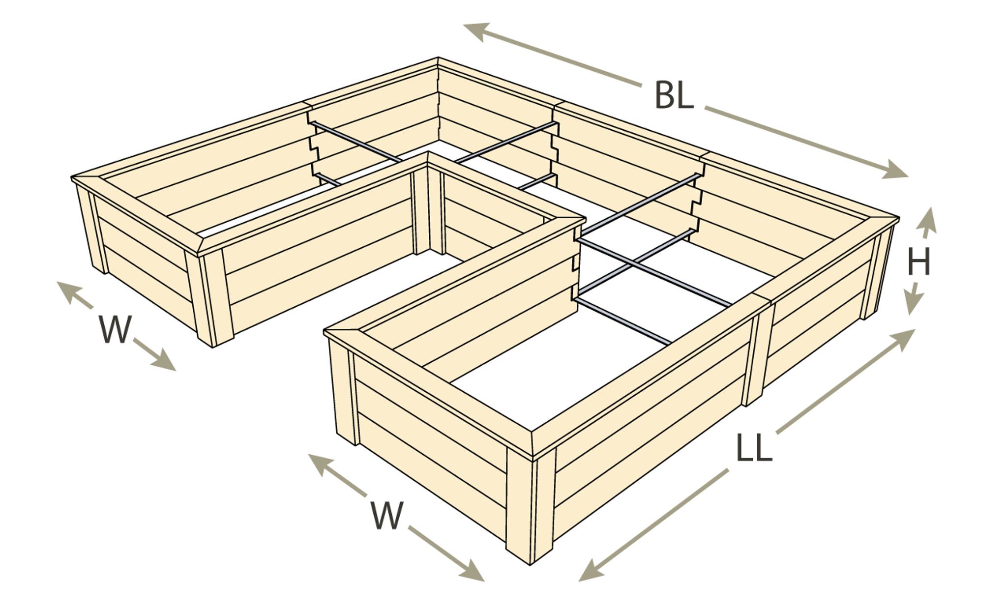 Natural Cedar UShaped Raised Garden Beds – U Shaped Raised Garden Bed Plans