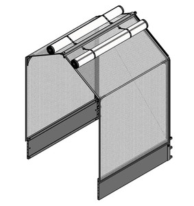 "GrowCamp Extension Module for 4' x 4' x 12"" with 5' High Frame"