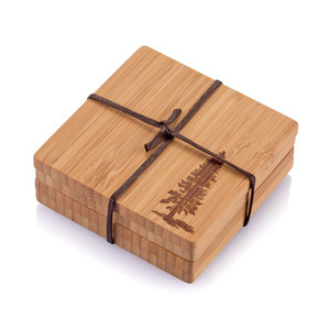 Bambu Pine Tree Coasters - Set of 4