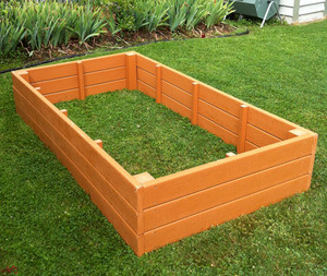 Recycled Plastic Raised Garden Bed - 4' x 8' x 11""