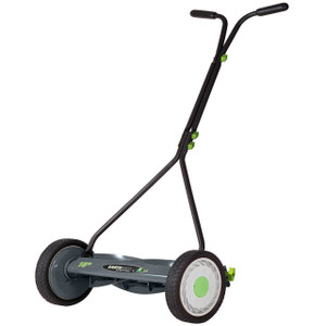 greenworks 16 5 blade push reel lawn mower with grass. Black Bedroom Furniture Sets. Home Design Ideas