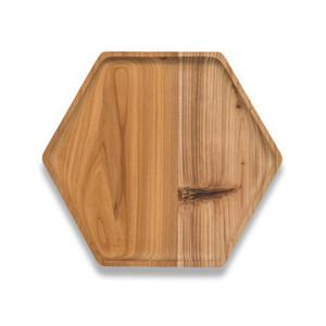 Reclaimed Cedar Wood Hexagon Tray