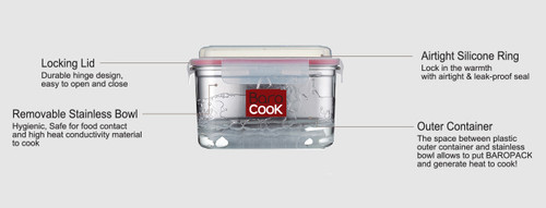 Barocook flameless cooking system 11 oz.
