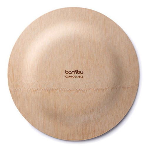 Biodegradable Bamboo Plates - Set of 8