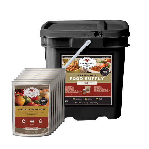 Emergency Food Supply Grab and Go Kit - 120 Servings (Entree Only)