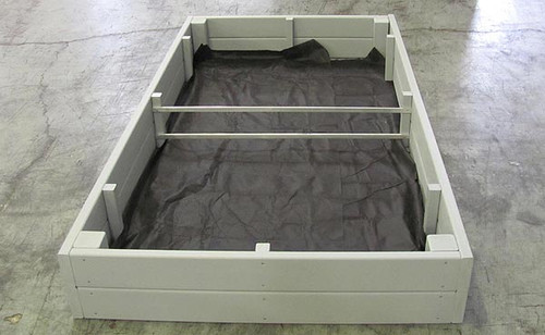 Recycled Plastic Raised Garden Bed - 3' x 6' x 16.5""