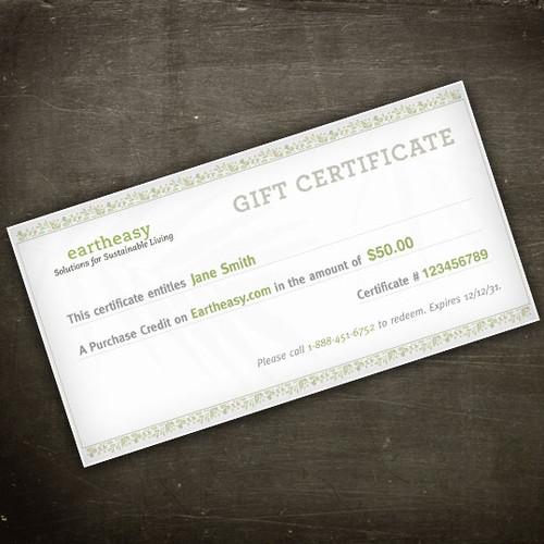 Eartheasy E-Gift Certificate
