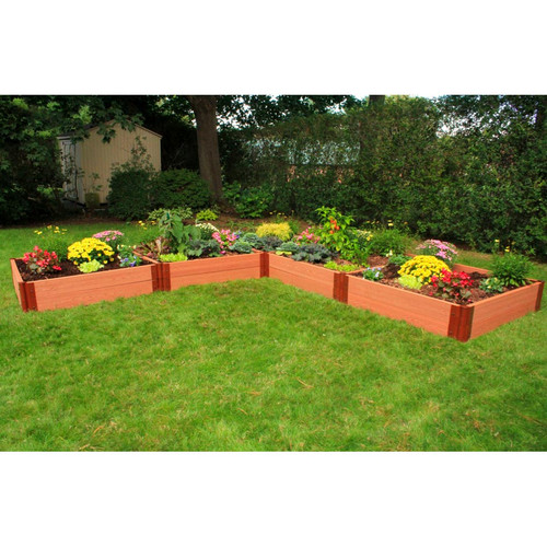 L-Shaped Composite Raised Garden Bed