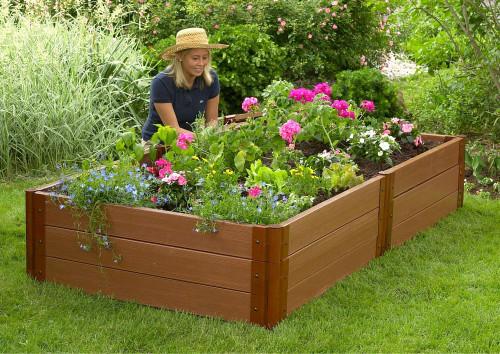 "Composite Raised Garden Bed - 4' x 8' x 16.5"""