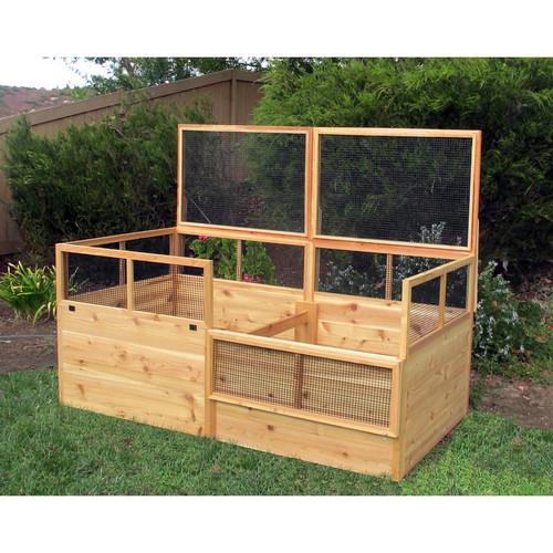 3' x 6' Raised Garden Bed with 2 Trellises