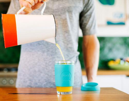 Reusable Glass Coffee Cup 16oz