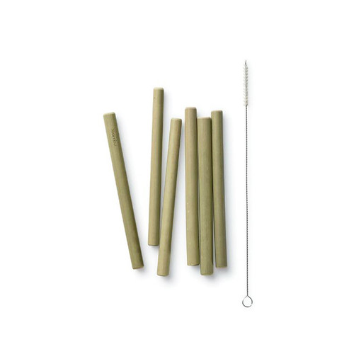 Short Bamboo Straws 6-Pack