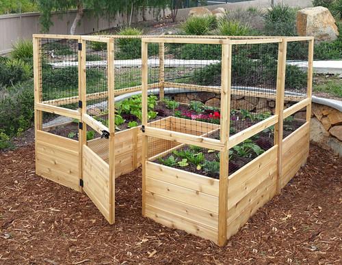 garden kits. deer proof cedar complete raised garden bed kit - 8\u0027 x kits