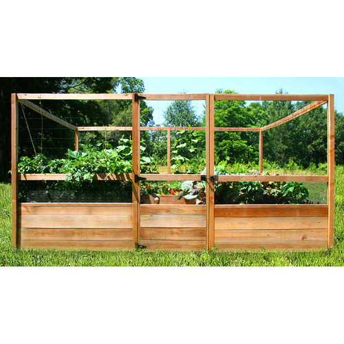 Deer Proof Cedar Complete Raised Garden Bed Kit 8 X 12
