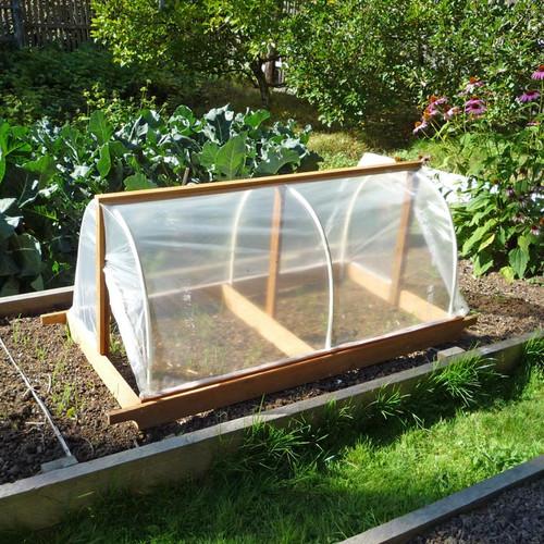 diy portable garden cloche plans eartheasy