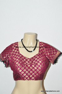 Red Brocket Blouse