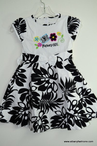 Black White Flower Cotton Dress Size 30