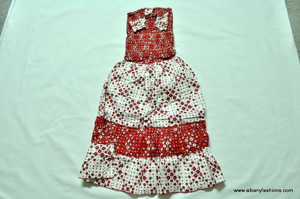 Red Cotton Dress with 2 tops Size 18