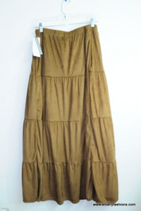 Brown Velvet Long Skirt Size XL