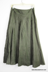 Green Velvet Skirt Size 6