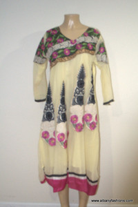2000 Anarkali Churidar Suit-Yellow