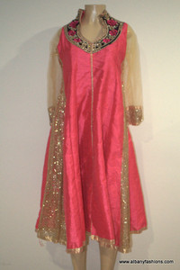 2000 Anarkali Churidar Suit-PinkSilver