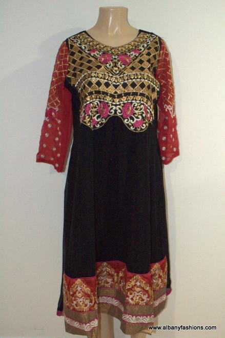 2883-Anarkali Churidar Suit-Black