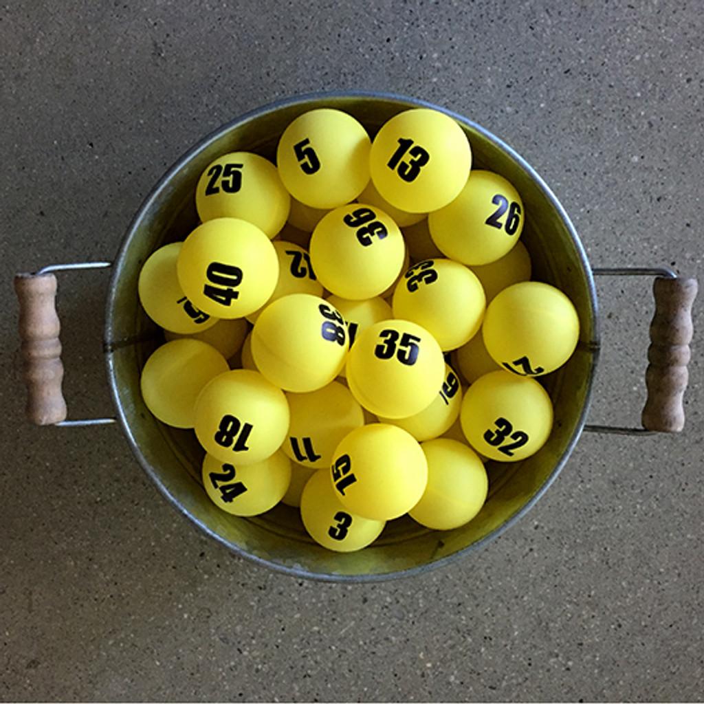 Individually Numbered Colored Ping Pong Balls