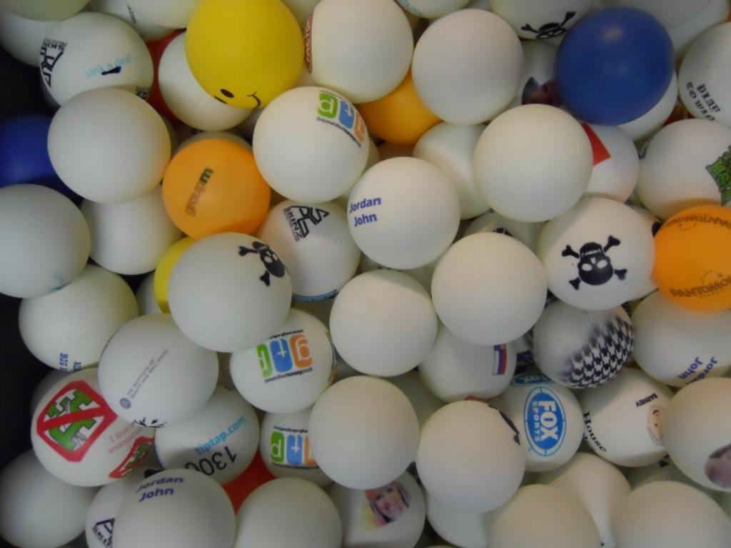 Misprinted Ping Pong Balls