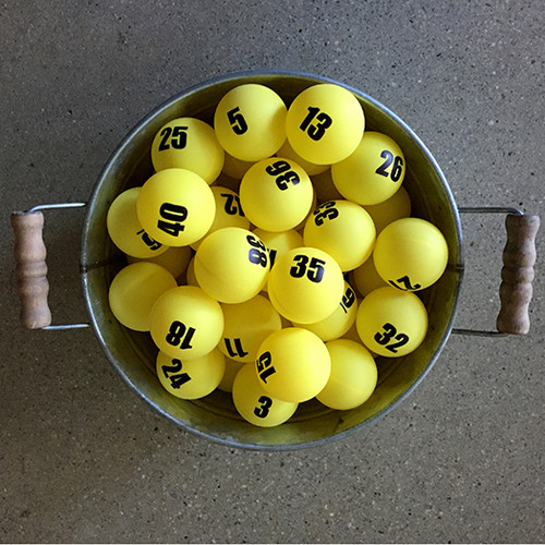 Individually Numbered Colored Ping Pong Balls