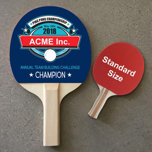 Custom Color Large Ping Pong Paddle - Single Side Imprint